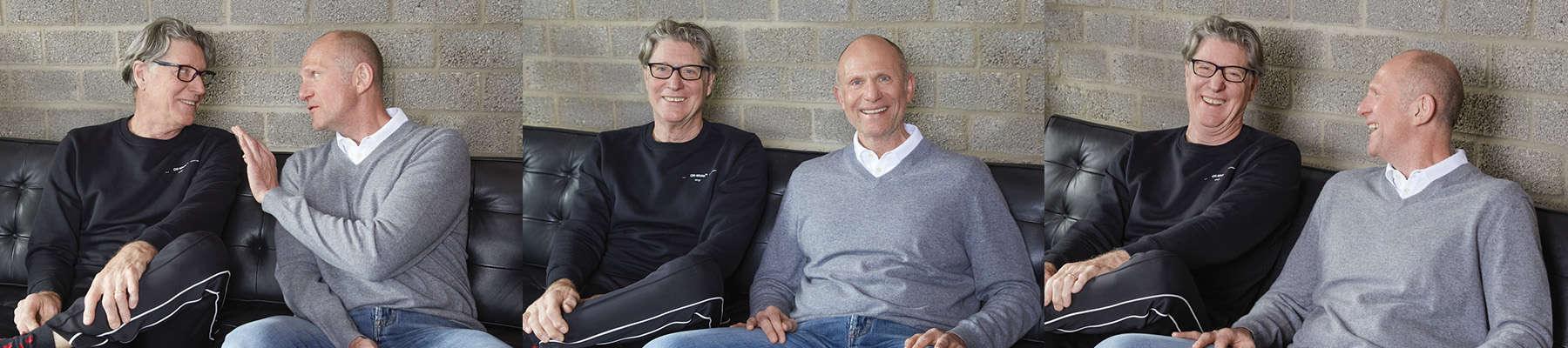 WIR-Podcast Gastgeber Prof. Dr. Dieter Müller mit Gast Toni Schumacher